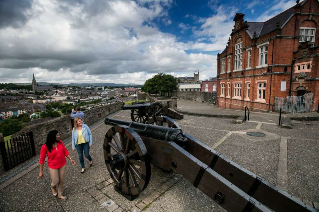 Cannon on Derry City Walls